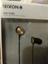 RARE Nixon 'The Wire' In-Ear Custom Headphones (8mm drivers) - GOLD