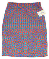 Women's LULAROE Multi Colored Geometric Design Cassie Skirt Size Large NWT
