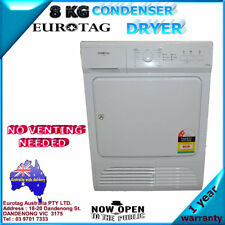 NEW EUROTAG EU-80CDR 8kg 15 PROGRAMS FUNCTION CONDENSER DRYER RRP$995.00