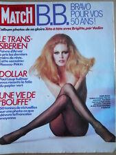 PARIS MATCH n°1843 1984  Speciale Brigitte Bardot la legenda   [C71]