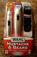Wahl Beard Battery Trimmer Kit With Bonus 12 Piece Nose Ear Precision