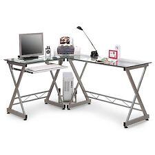 SixBros. Mesa de Ordenador Gris Plateado - CT-3802/45