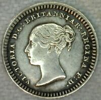 1842 Great Britain One and One Half Pence Coin Silver Reference KM728
