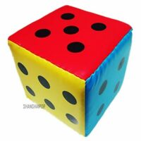 Giant Sponge Faux Leather Dice Six Sided Game Toy Family Playing Teaching 20cm