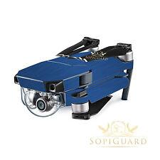 SopiGuard Brushed Blue Vinyl Skin Wrap Battery Controller for DJI Mavic Pro