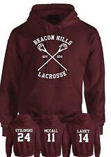 Beacon Hills Lacrosse Hoodie Teen Wolf Stilinski Lahey McCall Unisex Hoody Top