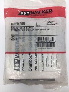 Walker 828PR-BRN Receptacle Plate for Duplex Receptacle (Brown)
