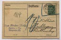 Infla Postkarte EF Mi.Nr. 244 Zwickau n. Waiblingen 29.6.1924 gepr. Infla Berlin