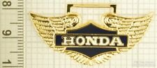 Sturdy key chain with a gold-plated & enamel Honda Motorcycle Wings shield
