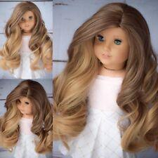 """11"""" Custom Doll Wig for 18"""" American Girl doll Gotz rainbow Wig 10-11"""" Cap"""