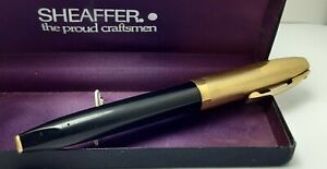 VINTIG SHEAFFER PFM V SNORKEL FOUNTAIN PEN U.S.A GOLD FILLED CAP 14K GOLD NIB