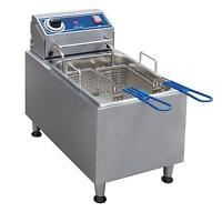 Globe PF16E 16 lb Stainless Steel Electric Countertop Fryer