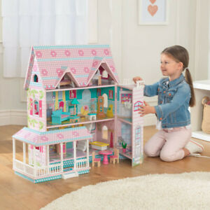 NEW KidKraft Abbey Manor Dollhouse   16 colorful accessories   3 levels, 5 rooms