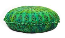 "Indian Mandala Round Cushion Cover Floor Pillow 32"" inch Meditation Ottoman Pouf"