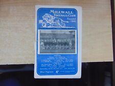Friendly 1956/7 Millwall v Banik Ostrava Czechoslovakia