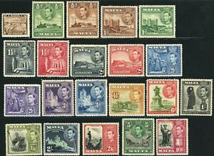 MALTA #191-205 Postage British Commonwealth Stamp Collection 1938-43 Mint LH OG