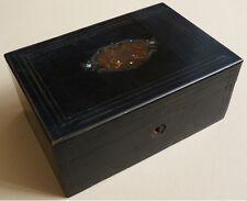 Boite en bois noirci et marqueterie Napoléon III 19e siècle