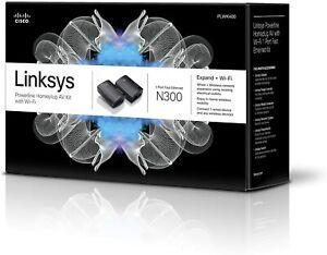 New Linksys Powerline AV Wireless Network Extender (PLWK400) N300