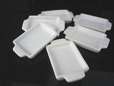 18x25 mm. Set of 6 White Baking Pan/Tray Dollhouse Miniatures Supply Deco