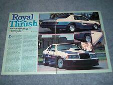 "1983 Ford Thunderbird Thrush Turbo 500 Give Away Car ""Royal Thrush"""