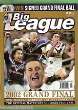 #KK.  2002  RUGBY LEAGUE GRANDFINAL PROGRAM - WARRIORS  V ROOSTERS