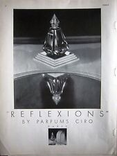 1934 Reflexions Parfums Ciro Paris Perfume Cologne Fragrance Ad