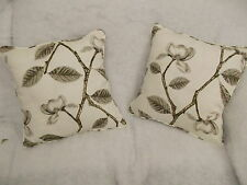 """FLORA BU JOCELYN WARNER 1 PAIR OF 18"""" CUSHION COVERS - DOUBLE SIDED & PIPED"""