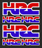 6 x HONDA HRC Decals Stickers - Honda Racing Corporation set of 6 decals