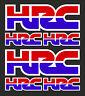 6 x HONDA HRC Decals Stickers - Honda Racing Corporation set of 6 decals