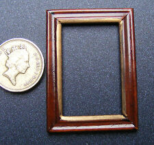 1:12 Scale Single Wooden Picture Frame With No Acetate Dolls House Accessory 956