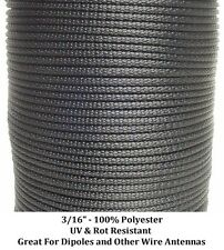 """Antenna Support Rope 300' 3/16"""" Dacron Polyester, Tents, Doomsday Prepper Dipole"""