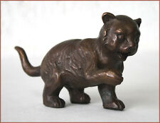 Bronzeskulptur, kleine Katze, Dekoration für Haus und Garten*
