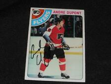Philadelphia Flyers Andre Dupont Signed 1978/79 Topps Autograph Card #98  H14