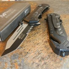 MTECH BALLISTIC Spring Assisted Open BLACK TANTO Blade Pocket Knife MT-A867BK