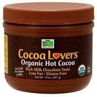 NOW Foods Organic Hot Cocoa Lovers Cocoa, 14 oz.