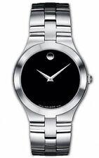 Movado Juro Men's Black Dial Stainless Steel Swiss Quartz Watch 0605023