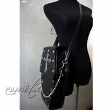 Steampunk Vintage Unisex Gothic Coffin Style Backpack Black Shoulder Bag Rock