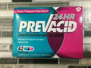 Prevacid 24 Hr 42 Capsules, 15 MG / ACID REDUCER January 2022! #6426