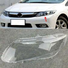 Left Side Headlight Headlamp Clear Lens Cover +Glue Fit For Honda Civic 2012-13