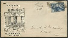 1894 #230 ON LARGE ADVT THE NAT'L REAL ESTATE EXCHANGE COVER VERY SCARCE BS1783