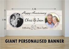 Personalised GIANT Large 30th Pearl Wedding Anniversary Banner N15