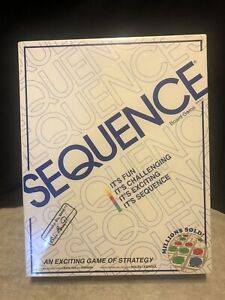 Sequence Board Game by Jax New Sealed, 2-12 Players. New, Sealed