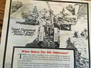 vintage Case Threshing machine co add from the 20s nice tractors threshers etc