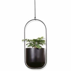 Metall Blumenampel zum hängen - inkl. Blumentopf - Hänge Deko Blumen Halter