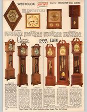 1969 PAPER AD 2 PG Floor Hall Grandfather Clock Colonial of Zeeland Elgin Weston