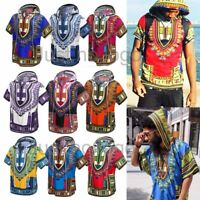 Men's Women's African Dashiki Shirts Hippie Kaftan Festive Dress Boho Hoodies