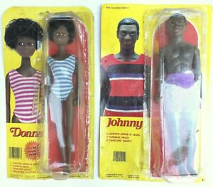 Old Original Black Americana Johnny and Donna Dolls Orig. Packaging Very Rare