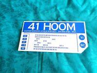 Star Trek Prop Screen Used Enterprise Sign 41 HOOM