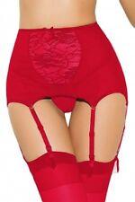 RED high waisted  garter belt sexy black lingerie VINTAGE garter belt 24-26