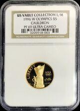 1996 W GOLD US $5 ATLANTA 8.359 GRAMS OLYMPIAD CAULDRON COIN NGC PROOF 69 UC